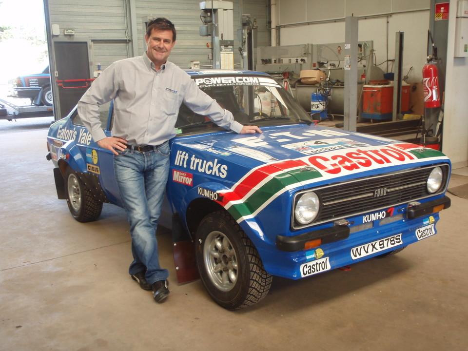 Dominique Depons et la Ford ex Mikkola