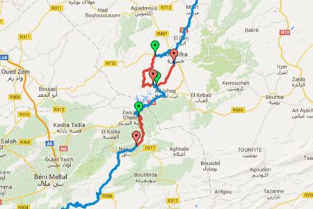 Les cartes Google Maps du Maroc Historique 2016