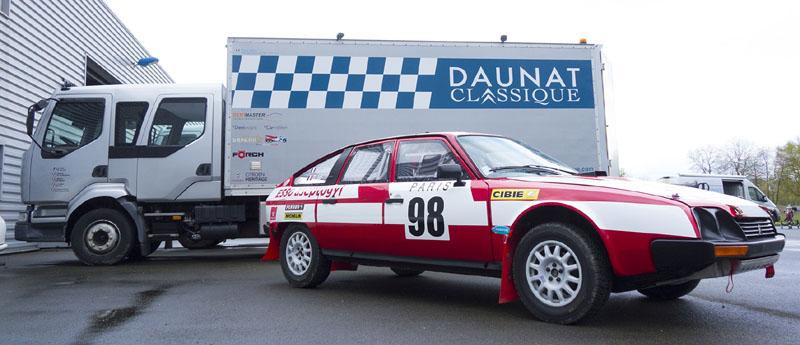 La nouvelle CX GTI de Jean-Jacques Julien ici en préparation aux ateliers Daunat Classique en Mayenne.