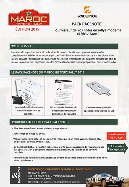 Service reconnaissances RACE4YOU Maroc 2018