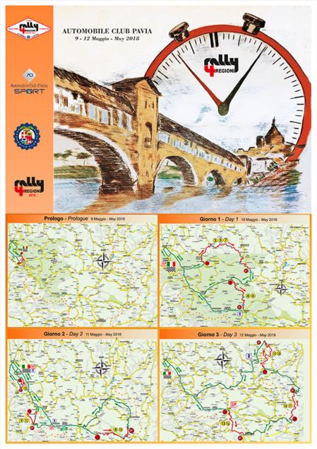 Les cartes du 4 Regioni 2018 (mises à jour)