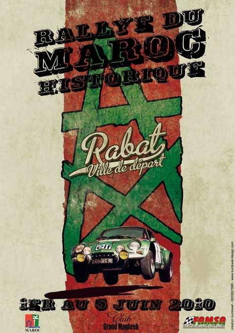 Affiche Rallye du Maroc Historique 2010