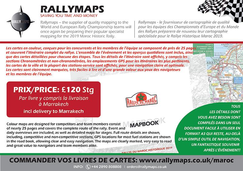 Les cartes détaillées Rallymaps sont disponibles