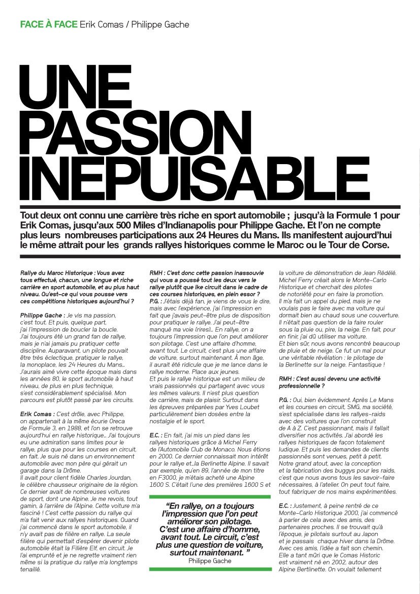 Le Mag : Une passion inépuisable