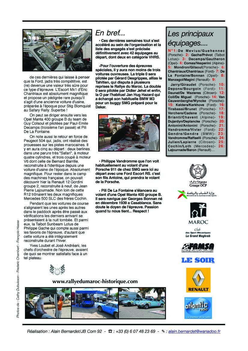 Rally News n°1 - 23 mai 2011