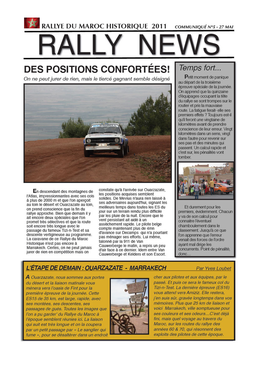 Rally News N°5 - 27 mai 2011
