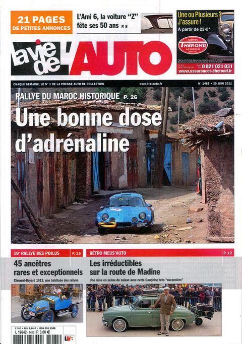 Le Maroc en couverture de La Vie de l'Auto