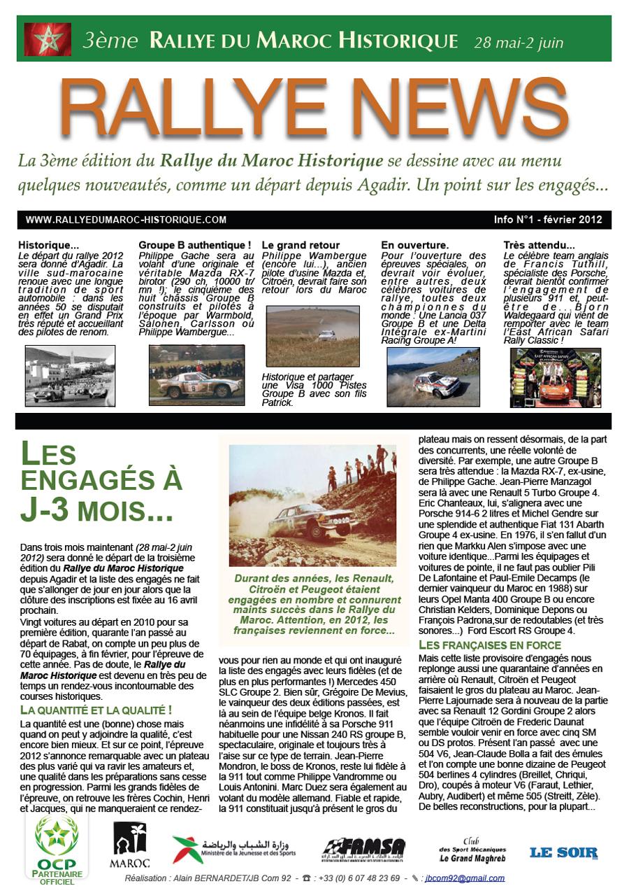 Rally News - Info N°1