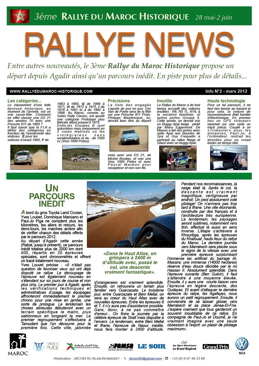 Rally News - Info N°2