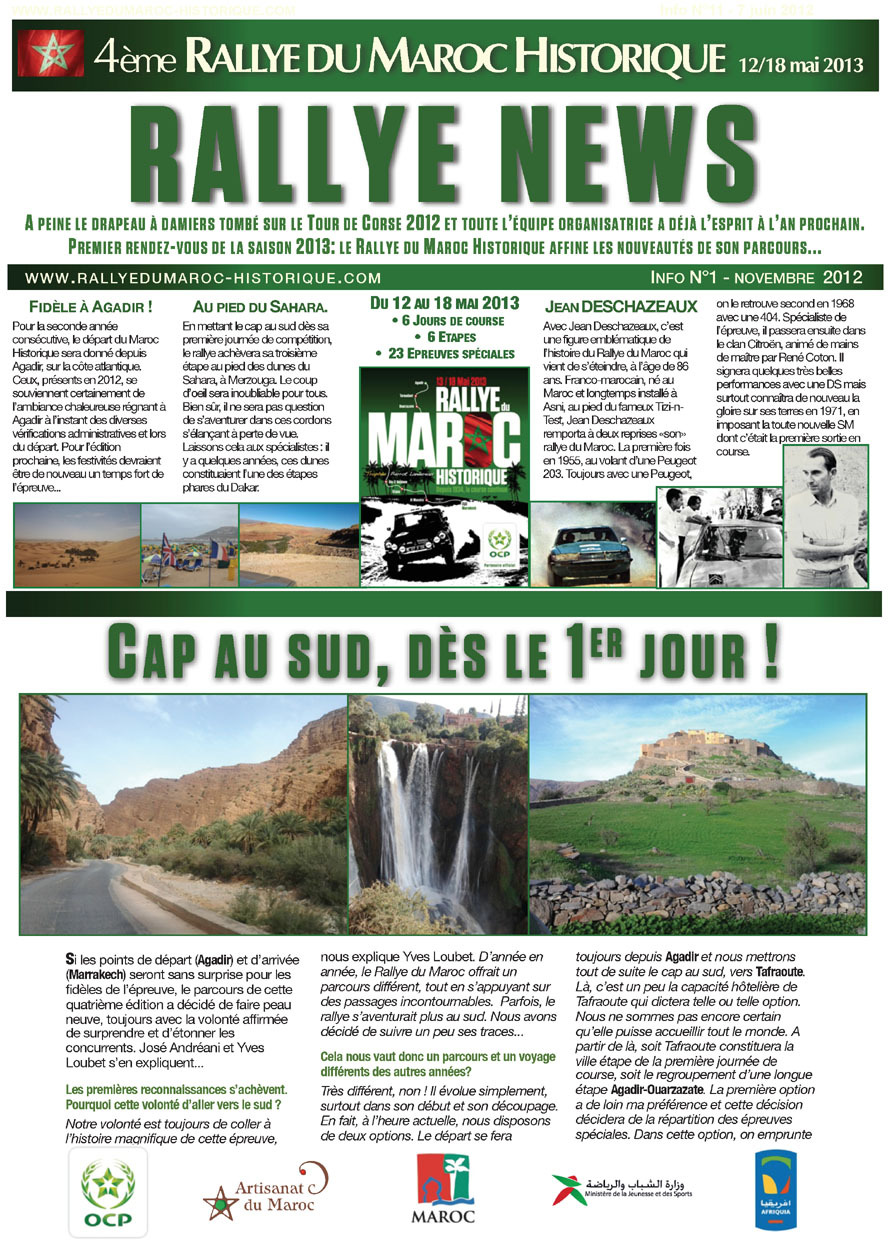 RMH2013 Rally News - Info N°1