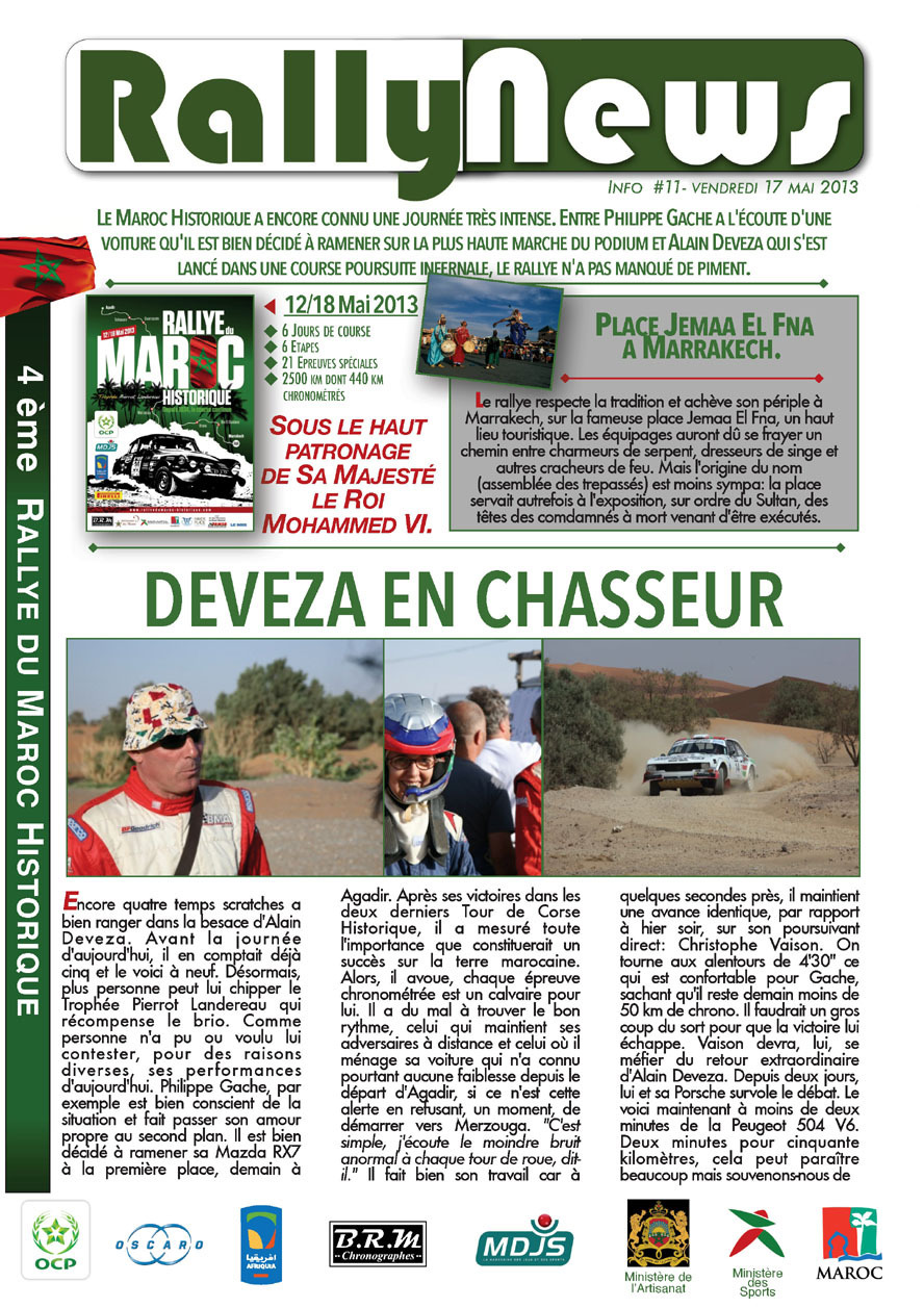 2013 Rally News - Info N°11