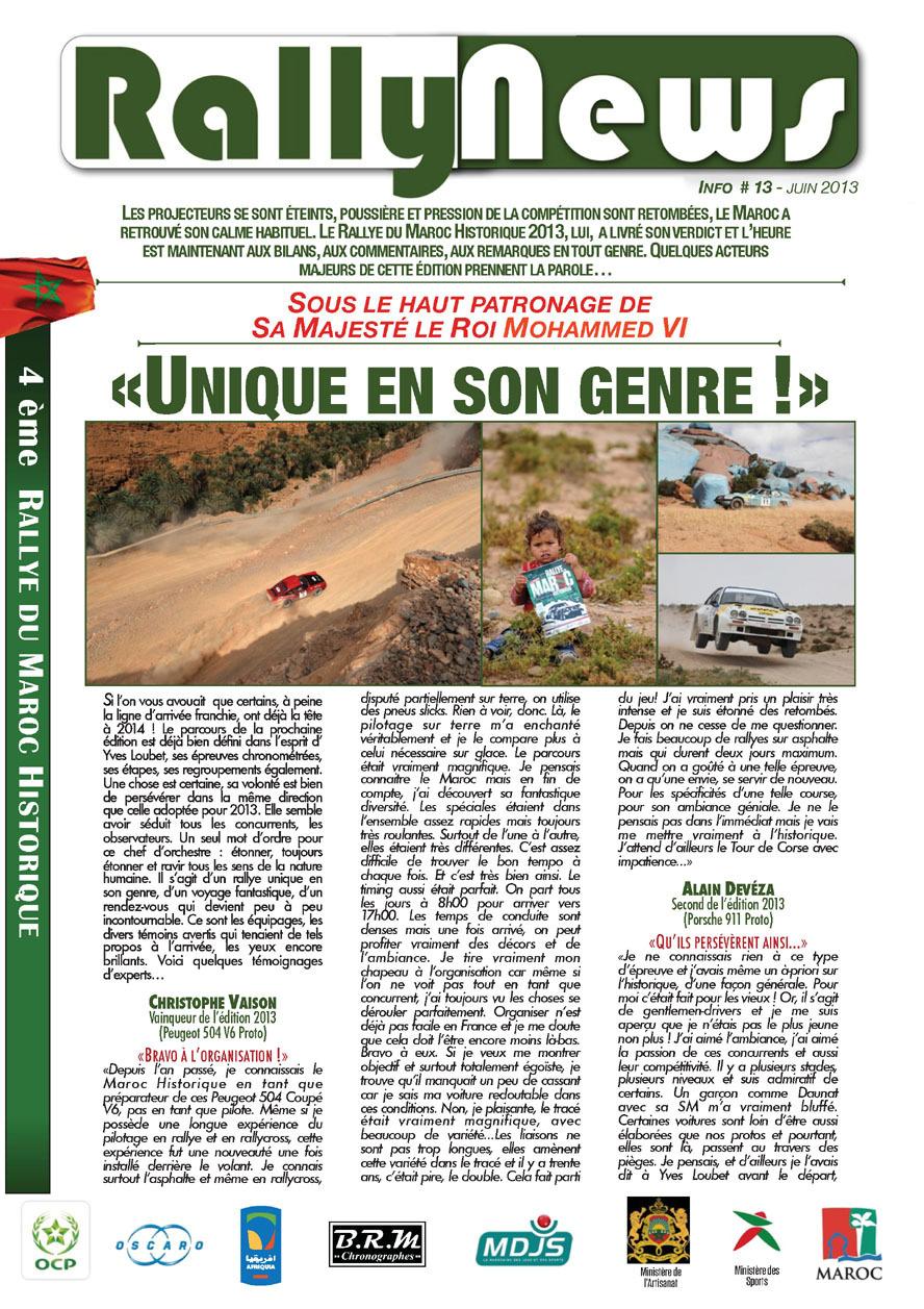 Rally News - Info N°13