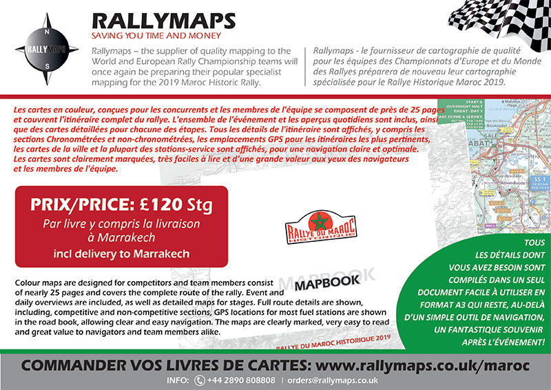 Les cartes Rallymaps sont disponibles