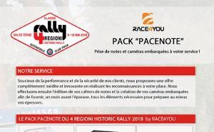 Service reconnaissances RACE4YOU 4 Regioni 2018