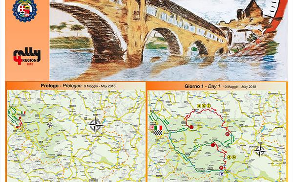 Les cartes du 4 Regioni 2018